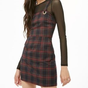 Forever 21 Dresses - 🚫SOLD🚫 Plaid Mini Overall Dress